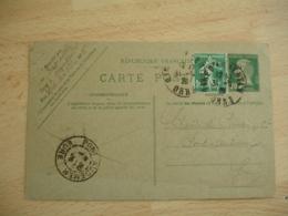 Entier Postal Pasteur 20 C Complement Semeuse Carte Postale De Argenton A Pont Audemer - Entiers Postaux
