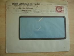 Perfin  Timbre Petain Credit Commercial France C C F Sur Lettre - France