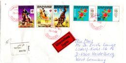 Lettre Expres Recommander  De Tripoli Vers Heidelberg, Selon Scan, Lot 51158 - Libye