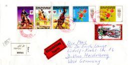 Lettre Expres Recommander  De Tripoli Vers Heidelberg, Selon Scan, Lot 51159 - Libye