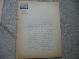 Lettre Autographe Jean Marsan Auteur Scenariste Dialoguiste En Tete Hotel Mi  Adresse Au Direction Theatre Des Varietes - Autographes