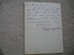 Lettre Autographe Alfred Mortier Journaliste Ecrivain    Adresse Au Direction Theatre Des Varietes - Autographes