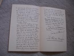 Lettre Autographe Gaston Charles Richard  Auteur Journaliste   Adresse A M Maurey Theatre Varietes - Autographes