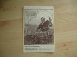 Guerre 14.18 Carte Allemande Tambour Ecriture - Weltkrieg 1914-18