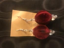 Coppia Di Orecchini Di Bigiotteria Vintage Pendenti - Earrings