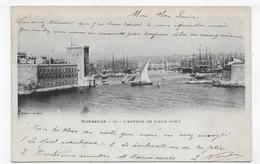 (RECTO / VERSO) MARSEILLE EN 1902 - N° 20 - L' ENTREE DU VIEUX PORT - BEAU CACHET - CPA PRECURSEUR - Vieux Port, Saint Victor, Le Panier