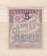 ZANZIBAR     N°  YVERT  :   TAXE  5     NEUF AVEC  CHARNIERES      ( Ch  2/05  ) - Zanzibar (1894-1904)