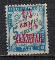 ZANZIBAR     N°  YVERT  :   TAXE  1     NEUF AVEC  CHARNIERES      ( Ch  2/05  ) - Zanzibar (1894-1904)