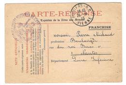 15454 -  SALLES MILITAIRES DE L HOSPICE DE POITIERS - Marcophilie (Lettres)