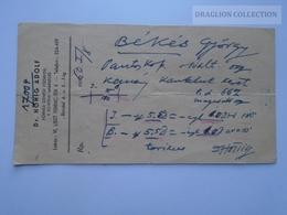 ZA188.2    Medical Prescription Médicale - Dr. Hönig Adolf - Budapest Hungary 1960 - Old Paper