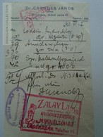 ZA188.4  Medical Prescription Médicale - Pharmacie Pharmacy  OROSHÁZA  Hungary - Zalay Lajos -Dr.Csendes János 1940 - Old Paper