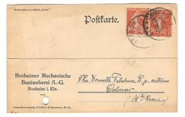 15457 - Carte Commerciale De ROSHIEM - Marcophilie (Lettres)
