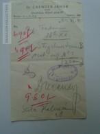 ZA188.5 Medical Prescription Médicale - Pharmacie Pharmacy  OROSHÁZA  Hungary - Molnár Mihály  -Dr.Csendes János 1940 - Vieux Papiers