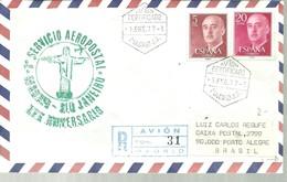 MATASELLOS    AVION CERTIFICADO   VUELO RIO DE JANEIRO  1977 - 1931-Aujourd'hui: II. République - ....Juan Carlos I
