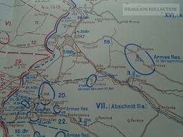 ZA188.6 MIlitary Map -Battlefield ISONZO  Italy Gorizia Udine Triest WWI - 1915  Guerra Mondiale  Ca 1920 - Cartes