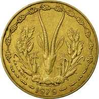 Monnaie, West African States, 10 Francs, 1979, TTB, Aluminum-Nickel-Bronze - Ivory Coast