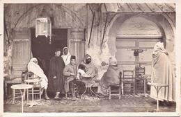 Seltene ALTE  Foto- AK   Orientalische Volkstypen / Orientalisches Cafe  - Ca. 1920 - Cartes Postales