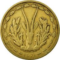 Monnaie, West African States, 25 Francs, 1971, TB+, Aluminum-Bronze, KM:5 - Côte-d'Ivoire