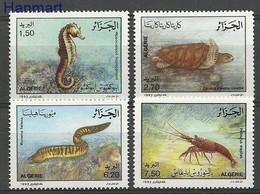 Algeria 1992 Mi 1078-1081 MNH ( ZS4 ALG1078-1081dav37A ) - Marine Life