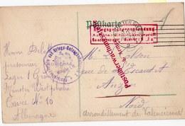 CARTE DE PRISONNIER  MUNSTER 1916 - Marcophilie (Lettres)