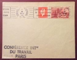 PS119 Dunkerque 744 Marianne Dulac 685 Premier Jour 5/11/1945 «Conférence Internationale Travail Paris XXVIIème Session - Postmark Collection (Covers)