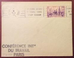 PS120 Rouen 745 Premier Jour 5/11/1945 «Conférence Internationale Travail Paris XXVIIème Session - Postmark Collection (Covers)