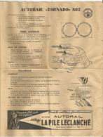 """JOUSTRA : AUTORAIL """" TORNADO """" 802 : MODE D EMPLOI - Jouets Anciens"""