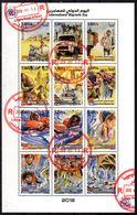 18-12-2018; Internationaler Migrations Tag, Kleinbogen Mit 12 Briefmarken, Gestempelt 10-3-2019, Los 51162 - Libye