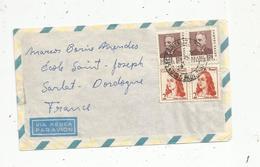 Lettre, BRESIL , BRASIL , S. PAULO ,  Sao Paulo , 4 Timbres ,1968 - Brésil