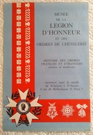BELLE AFFICHE ANCIENNE ORIGINALE MUSEE DE LA LEGION D' HONNEUR ET DES ORDRES DE CHEVALERIE NAPOLEON - Affiches