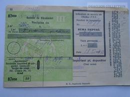 ZA188.20  Deposit 260 Lei - 1940-Romania Ghiorok Jud. Arad -Buletin De Varsamant Christ Mihály Jegyző  Minis - Chèques & Chèques De Voyage