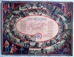 JEU DE PLATEAU PUBLICITE SNCF JEU DE LOIRE Illustration BELLE AFFICHE ANCIENNE ORIGINALE JEU DE L' OIE - Chemin De Fer