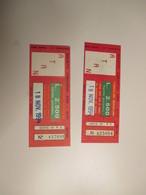 ATAN Napoli Biglietto Cumulativo Atan Actp Sepsa 1994 L.2500 Colori Diversi USATI - Bus