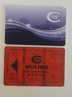 Casino Mulino Lux Casino Hotel Croatia 2x Differetn Casino Card - Cartes De Casino