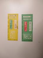 ATAN Napoli Biglietto Cumulativo Atan Actp Sepsa 1993 L.1500 Colori Diversi USATI - Busse
