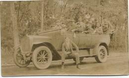 Photo Automobile Ancienne De L'hopital Chaptal En Foret De Senart Format 9X6 - Automobiles