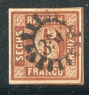 Bayern / Mi. 4 Breitrandig GMR-Stempel 356 (10859) - Bavière