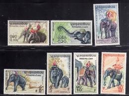 LAOS LAO 1958 ELEPHANTS ELEFANTI COMPLETE SET SERIE COMPLETA MNH - Laos