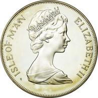 Monnaie, Isle Of Man, Elizabeth II, Crown, 1977, Pobjoy Mint, SPL, Argent - Regional Coins