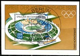 DDR - Mi Block 46 = 2132 - OO Gestempelt (B) - 1M    Sommerolympiade 76 - DDR