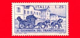 Nuovo - MNH - ITALIA - 1969 - 11ª Giornata Del Francobollo - 25 L. • Diligenza Del Servizio Postale • Azzurro - 1961-70:  Nuevos