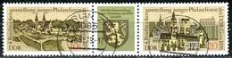 DDR - Mi 2153 / 2154 = Zd 332 - OO Gestempelt (A) - 10+5/Zf/20Pf      Briefmarkenausstellung Gera 76 - DDR
