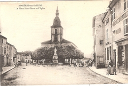 CPA Rosières Aux Salines La Place Saint Pierre Et L'Eglise St 54 Meurthe Et Moselle - Frankreich