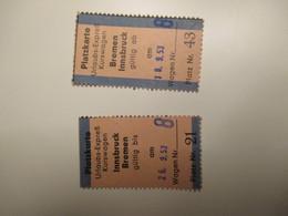 Platzkarte INNSBRUCK Bremen 1953 Anadata Ritorno Train Ticket - Chemins De Fer