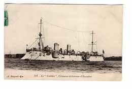 Bateau De Guerre Marine Militaire Française Le Galilée Croiseur éclaireur D' Escadre Cachet 1909 - Guerre