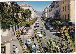 Ajaccio: RENAULT 4CV, 8, CITROËN AMI, MG MGB, SIMCA 1500, AUTOBUS - Le Cours Napoléon - (Corse) - Toerisme