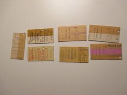 Germany GERMANIA Lotto N. 7 Old Tickets Lubecca Ecc. - Treni