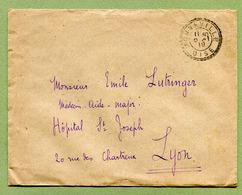 MONNEVILLE  (60) : Facteur Boitier N° 1850 En Franchise 1919 - Postmark Collection (Covers)
