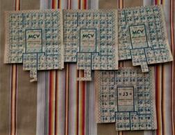 Lot De 4 Tickets De Rationnement - 1939-45
