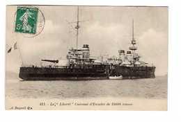 Bateau De Guerre Marine Militaire Française La Liberté Cuirassé D' Escadre De 15000 Tonnes Cachet 1909 - Guerre